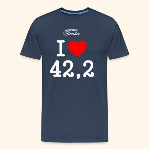 I love 42,2 - Man - Men's Premium T-Shirt