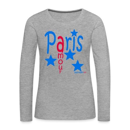 Paris - Frauen Premium Langarmshirt