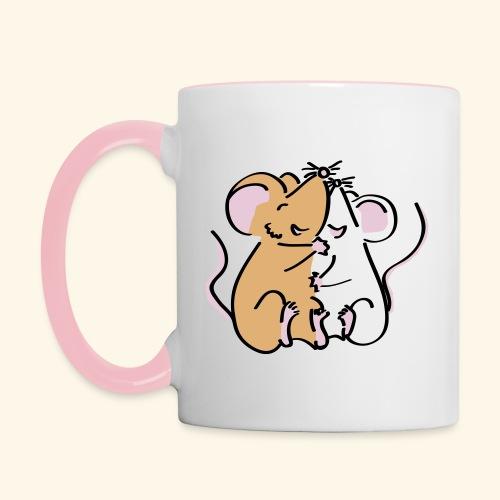 myMousie Teetasse Kuschelmäuschen - Tasse zweifarbig