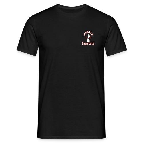 T-paita valkoisella logolla (tummat paidat) - Miesten t-paita