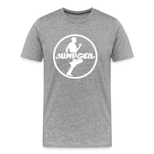 Jumpgeil Männer Shirt Logo3 Weiß - Männer Premium T-Shirt