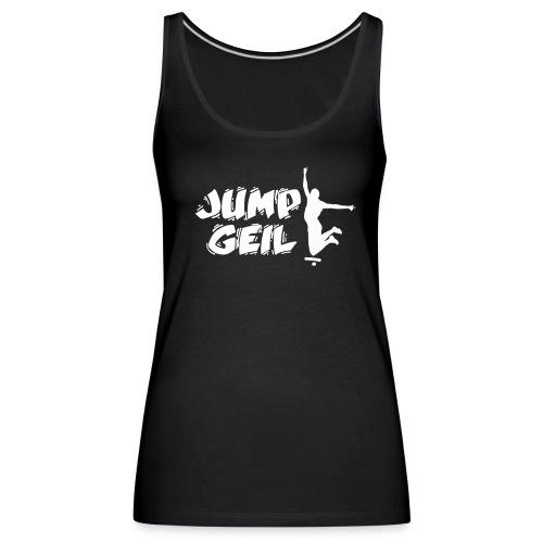 Jumpgeil Frauen Top Logo2 Weiß - Frauen Premium Tank Top