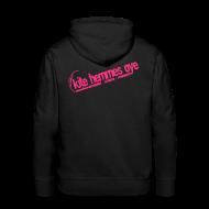 Sweat-shirts ~ Sweat-shirt à capuche Premium pour hommes ~ Hoodie Black & Pink