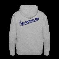 Sweat-shirts ~ Sweat-shirt à capuche Premium pour hommes ~ Hoodie Grey & Navy