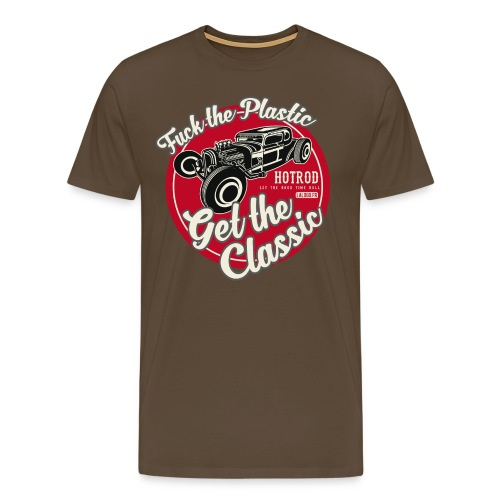 Fuck the plastic HOTROD 3 - T-shirt Premium Homme