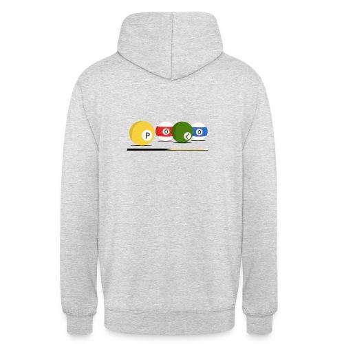 Hoodie Billard Pec+Dos - Sweat-shirt à capuche unisexe