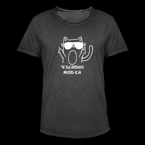 Scheixxx Stinkefinger - Männer Vintage T-Shirt