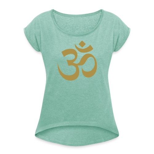 T-shirt femme Boyfriend - T-shirt à manches retroussées Femme