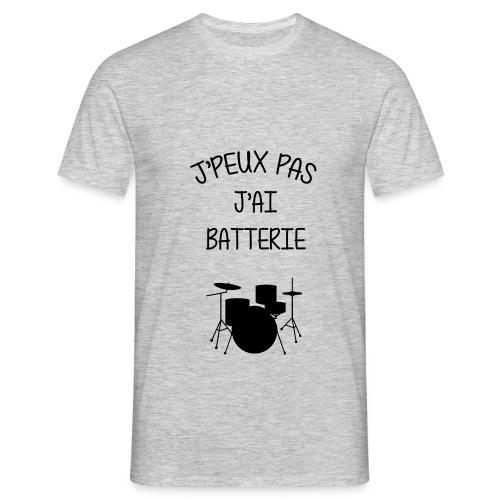 Je peux pas j'ai batterie | Jūlēs Brñ - T-shirt Homme