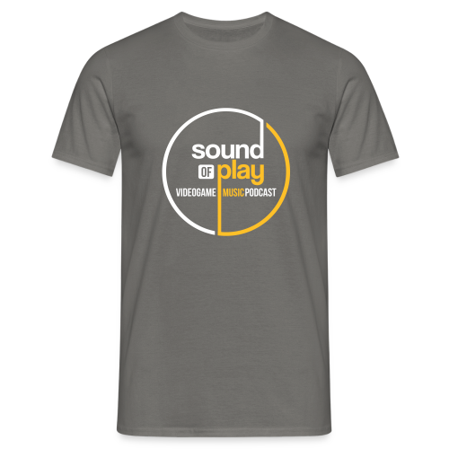 Graphite Grey Sound of Play round logo - Men's T-Shirt