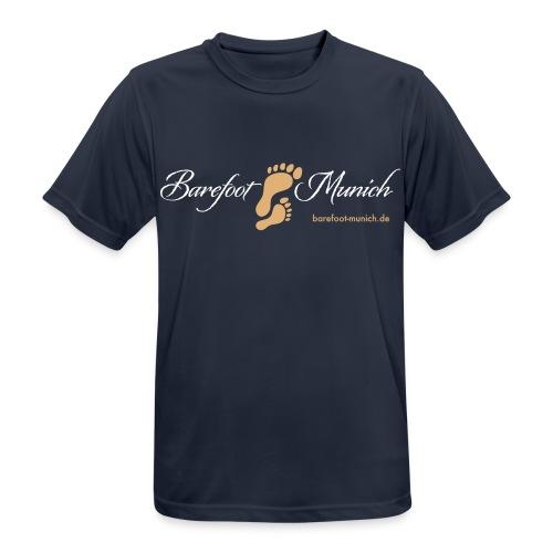 Männer T-Shirt Blue AIR - Barefoot Munich - Männer T-Shirt atmungsaktiv