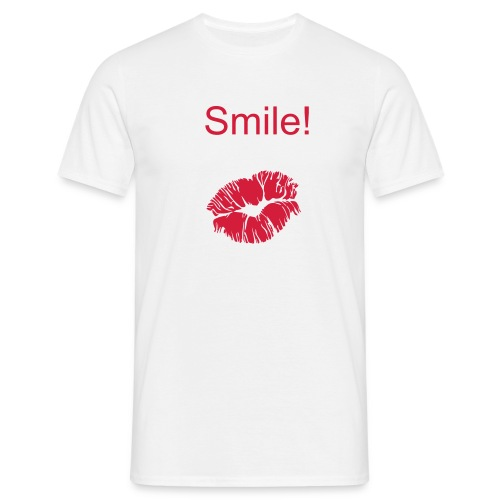 Smile.... is a kiss - Men's T-Shirt