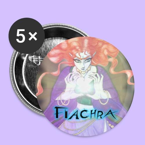 Vigdis, galdorcraftig badges- large, set of 5 - Buttons large 56 mm