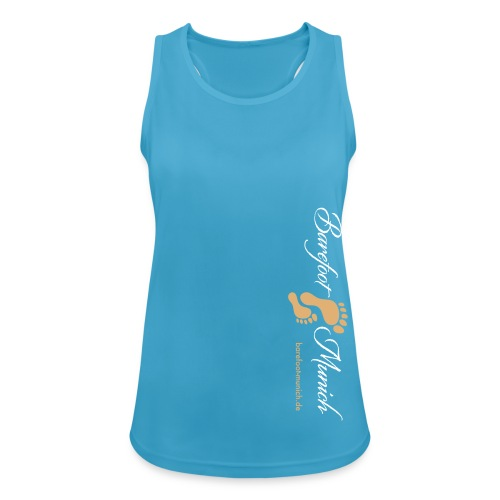 Frauen Tanktop Lightblue AIR - Barefoot Munich - Frauen Tank Top atmungsaktiv