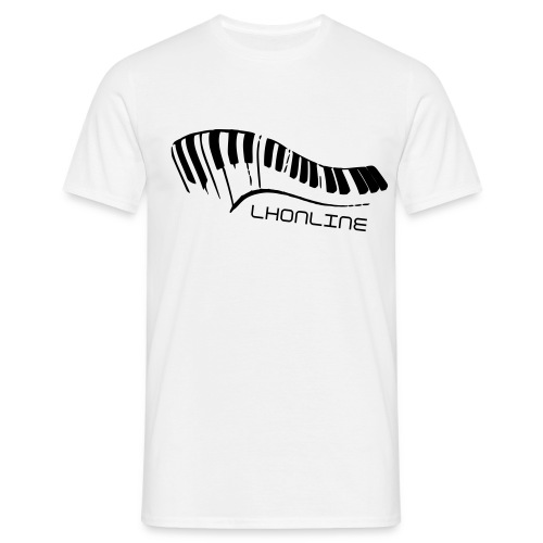 Piano White Mens - Men's T-Shirt