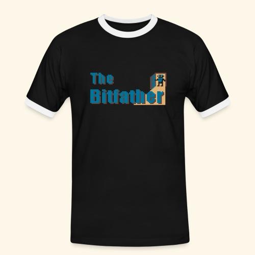 Black - Männer Kontrast-T-Shirt