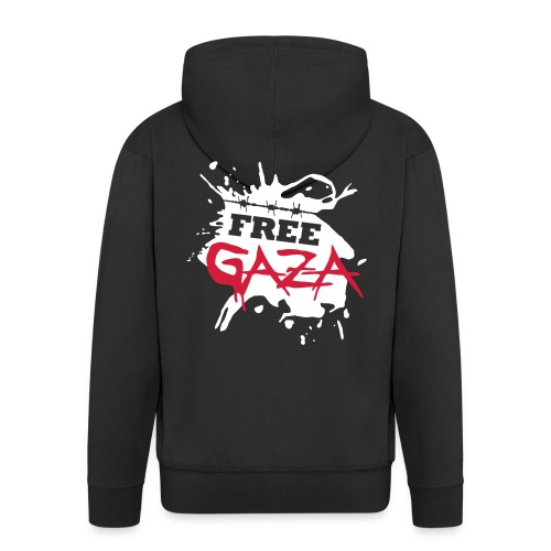 'Free Gaza' - Men's hoody (with zip) - Men's Premium Hooded Jacket
