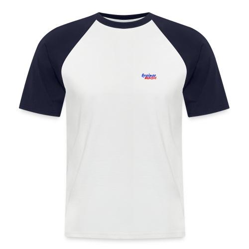 Raglan Kurzarm weiß/rot KrainerMusic KM01TS14 - Männer Baseball-T-Shirt