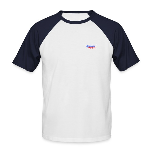 Raglan Kurzarm weiß/rot m. Rückenemblem KrainerMusic KM01TS15 - Männer Baseball-T-Shirt