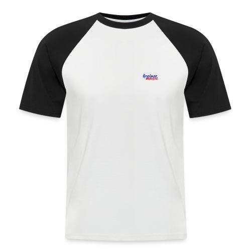 Raglan weiß/schwarz KrainerMusic m. Rückenemblem KM01TS11 - Männer Baseball-T-Shirt