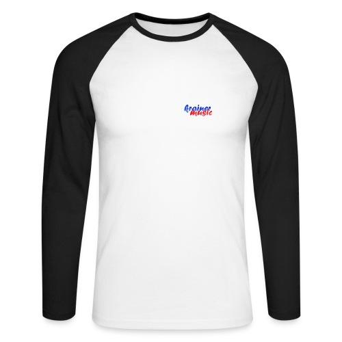 Promodoro Raglan Langarm weiß/schwarz KrainerMusic KM01LS02 - Männer Baseballshirt langarm