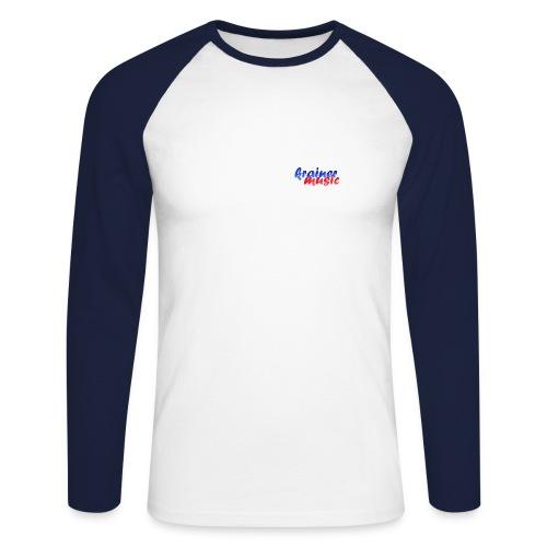 Promodoro Raglan Langarm weiß/navy KrainerMusic KM01LS03 - Männer Baseballshirt langarm