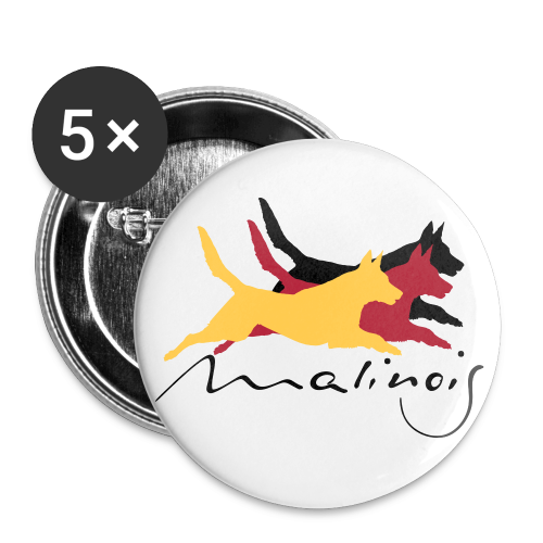 Malinois - german color - Buttons mittel 32 mm (5er Pack)