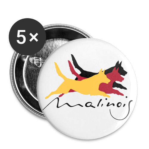Malinois - german color - Buttons klein 25 mm (5er Pack)