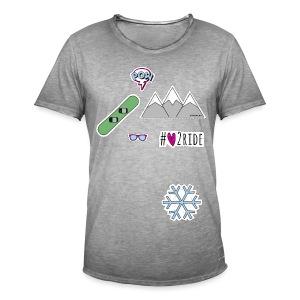 #love2ride T-Shirt - Männer Vintage T-Shirt