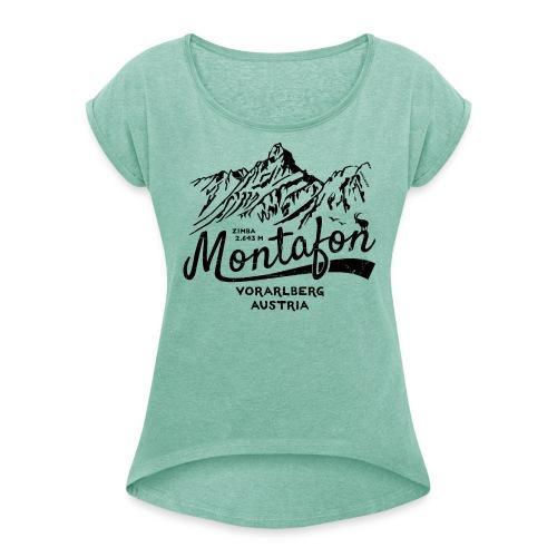 Montafon Zimba T-Shirt - Frauen T-Shirt mit gerollten Ärmeln