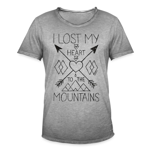 Lost my heart to the mountains T-Shirt - Männer Vintage T-Shirt