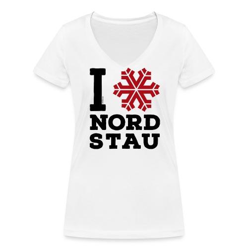 I love Nordstau V-Neck T-Shirt - Frauen Bio-T-Shirt mit V-Ausschnitt von Stanley & Stella
