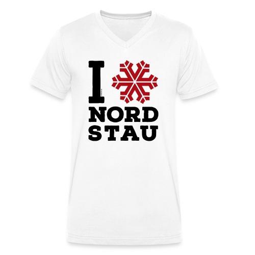 I love Nordstau V-Neck T-Shirt - Männer Bio-T-Shirt mit V-Ausschnitt von Stanley & Stella