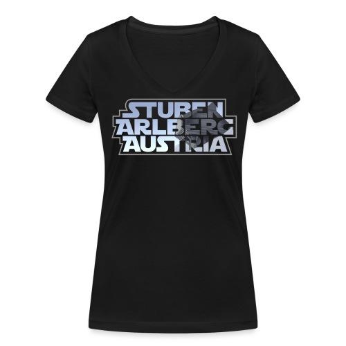 Stuben V-Neck T-Shirt - Frauen Bio-T-Shirt mit V-Ausschnitt von Stanley & Stella