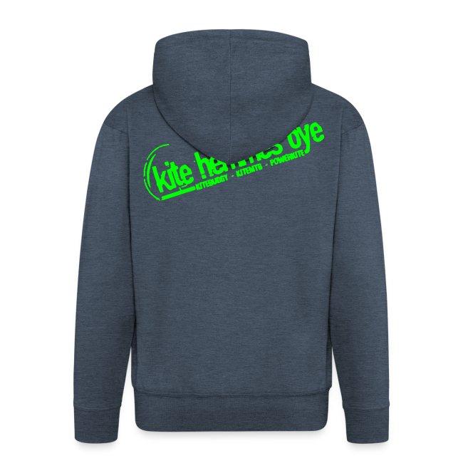 Hoodie Zip Custom Grey & Green
