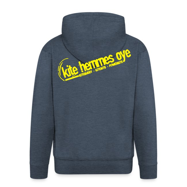 Hoodie Zip Custom Grey & Yellow