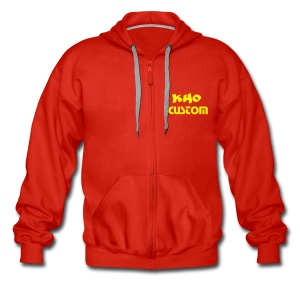 Hoodie Zip Custom Red & Yellow - Veste à capuche Premium Homme