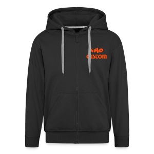 Hoodie Zip Custom Black & Orange - Veste à capuche Premium Homme