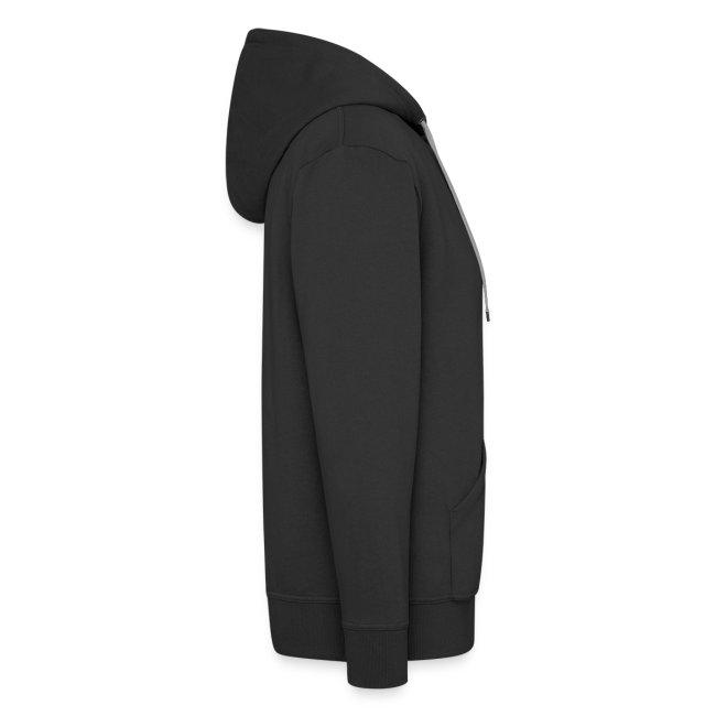 Hoodie Zip Custom Black & Orange