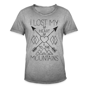 Lost my heart to the mountains T-Shirt - Men's Vintage T-Shirt