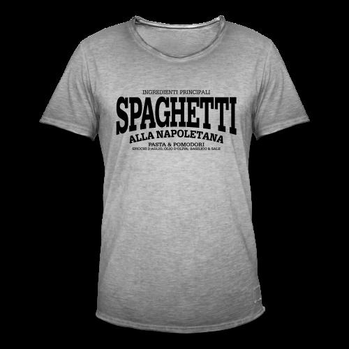 Spaghetti alla Napoletana (schwarz) - Männer Vintage T-Shirt