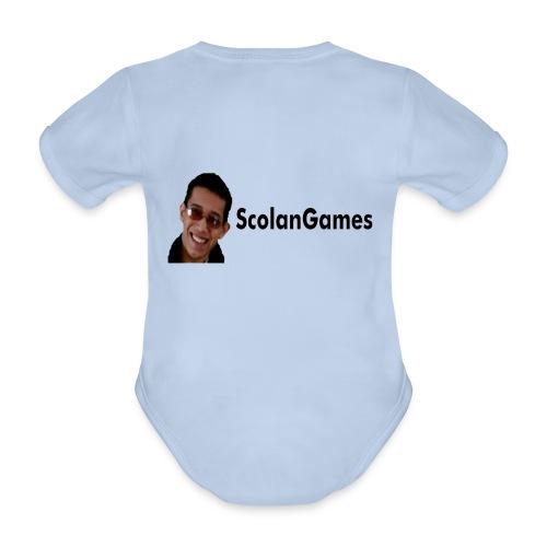 ScolanGames romper - Baby bio-rompertje met korte mouwen