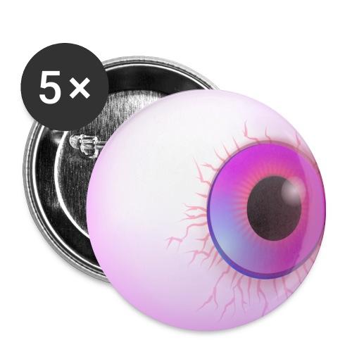 Augapfel Auge Augen-Blick - Buttons mittel 32 mm (5er Pack)