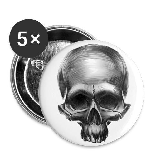 Totenkopf Button - Buttons mittel 32 mm
