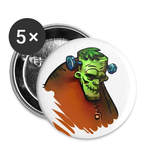 Frankenstein Button - Buttons mittel 32 mm (5er Pack)