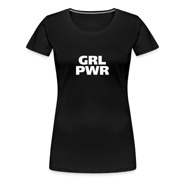 GRL PWR Girl Power coole Mädchen starke Frauen fit