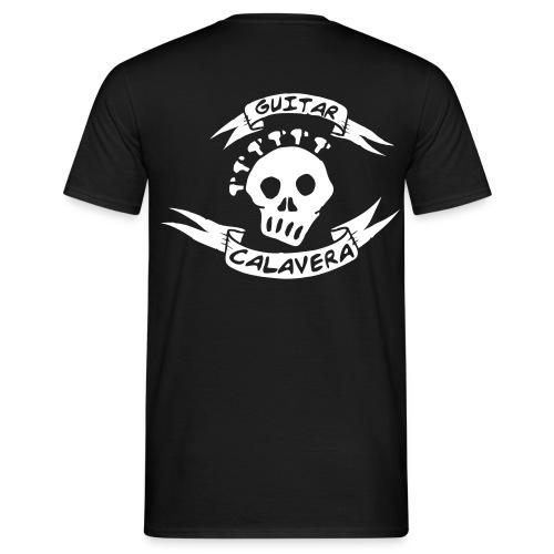 Guitar Calavera Back - Camiseta hombre