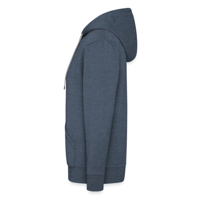 Hoodie Zip Custom Grey Pink