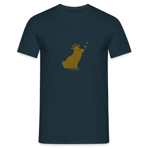 Walter Frosch (Gold auf Dunkelblau) - Männer T-Shirt