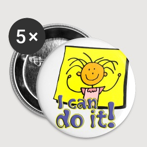 I can do it! - Buttons groß 56 mm